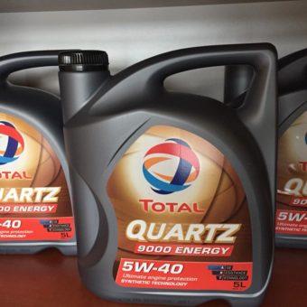 Akce Olej TOTAL QUARTZ 5W-40 5L