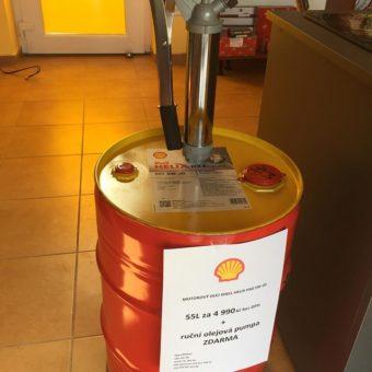 AKCE Shell Helix HX8 55L + ZDARMA olejová pumpa