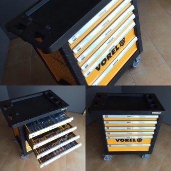 Vybavený nářaďový vozík VOREL 58540